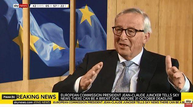 """欧盟主席容克:""""有望和英国达成'脱欧'协议"""""""
