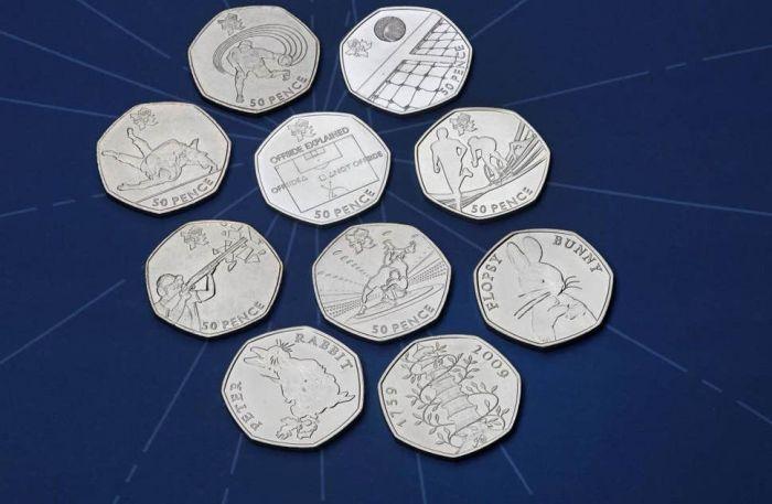 50便士硬币价值翻百倍!皇家铸币局:50便士是英国最有收藏价值的硬币
