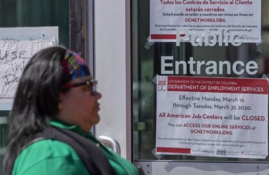 疫情之下:美国失业率上涨 非农部门就业岗位减少70万个